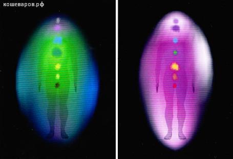 Съемка ауры до и после занятий телесно-ориентированной терапией
